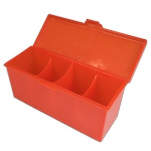 4-Compartment Storage Box - Red
