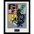 GBeye Collector Print - Harry Potter Letter Crests 30x40cm