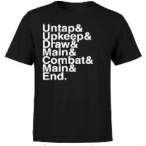 Magic The Gathering Turn Phases Mens T-Shirt - Black - S