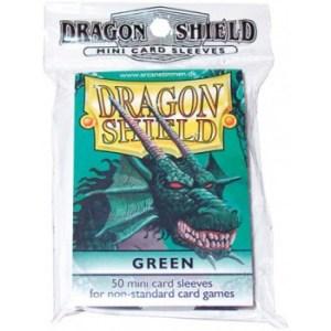 Dragon Shield Small Sleeves - Green (50 Sleeves)