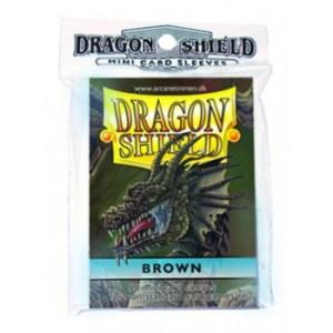Dragon Shield Small Sleeves - Brown (50 Sleeves)
