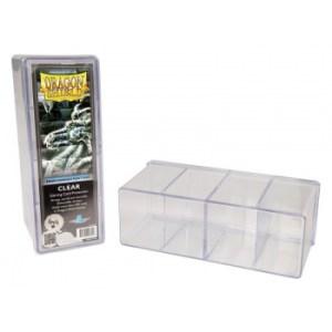 Dragon Shield - 4 Compartment Storage Box - Clear