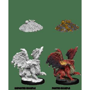 D&D Nolzurs Marvelous Miniatures - Red Dragon Wyrmling (6 Units)