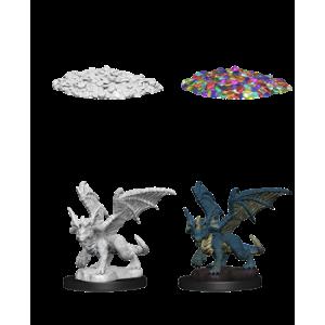 D&D Nolzurs Marvelous Miniatures - Blue Dragon Wyrmling (6 Units)