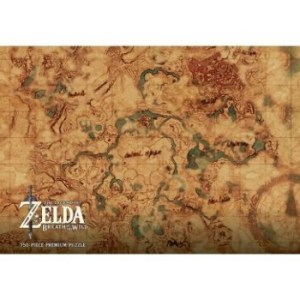 The Legend of Zelda Breath of the Wild Hyrule Map Puzzle 750 pc