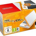 3DS: NEW Nintendo 2DS XL konsoli - White & Orange (EU)