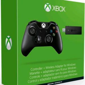 Xbox One: Xbox One Ohjain Wireless + Wireless Adapter for Windows 10 (Musta)
