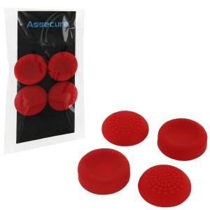 PS4: PS4 Silicone Thumb Grips: Concave & Convex - Red (Assecure)