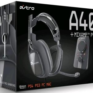 PS4: ASTRO Gaming A40 PS4 Headset Inc Mix Amp Pro (Musta) (Vaurioitut pakkaus)