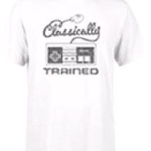 Nintendo Retro NES Classically Trained Mens White T-Shirt (SMALL)
