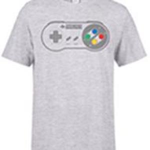 Nintendo SNES Ohjain Pad Mens Grey T-Shirt (XXL)