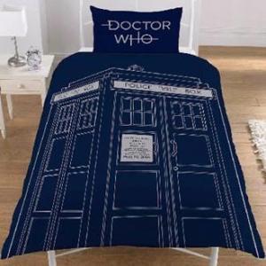 Dr Who Classic Tardis Yhden henkilön pussilakanasetti