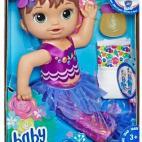 Baby Alive - Shimmer N Splash Mermaid Brunette Hair
