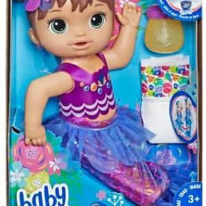 Baby Alive ShimmerN Splash Mermaid Brunette Hair