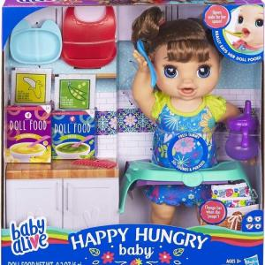 Baby Alive - Happy Hungry Baby Brown Straight Hair