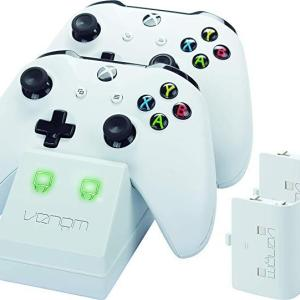 Xbox One: Venom Twin Charge Docking Station with 2x Rechargeable Battery Packs (White)