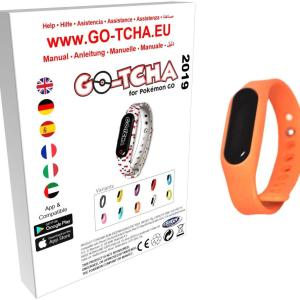 GO-TCHA Coloured Wristband for Pokemon Go (Glumanda Orange) /Accessories