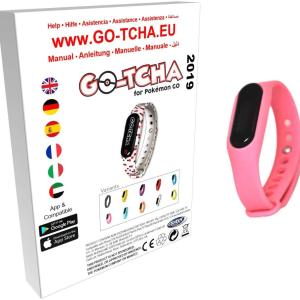 GO-TCHA Coloured Wristband for Pokemon Go (Pumeluff Pink) /Accessories