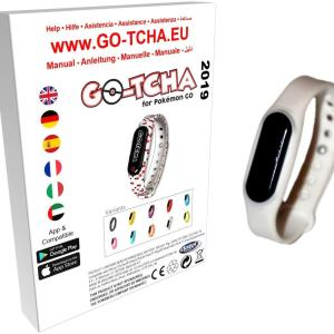 GO-TCHA Coloured Wristband for Pokemon Go (Ash White) /Accessories