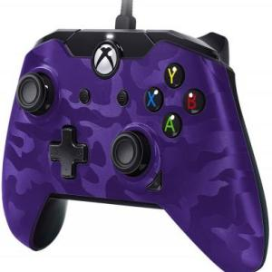 Xbox One: PDP Deluxe Wired Ohjain – Purple Camouflage