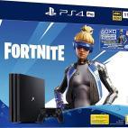 PS4: Playstation 4 Pro konsoli Bundle: Fornite Neo Versa Bundle + 2000 V-Bucks 1TB (UK)