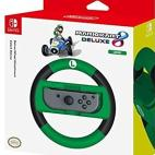 Switch: HORI Officially Licensed - Mario Kart Luigi Racing Wheel Ohjain