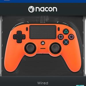 PS4: Nacon Wired Compact Ohjain [Orange]