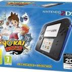 3DS: (F) Nintendo 2DS konsoli - Black & Blue inc. Yo-Kai-Watch (Pre Installed) (EU)(FAULTY/NO BOX)