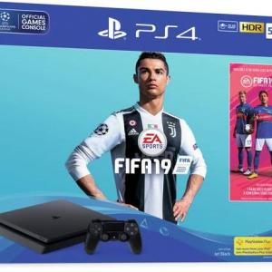 PS4: Playstation 4 500GB konsoli - Fifa 19 Bundle (UK)(Damaged Packaging/Open/No Game/No DLC)