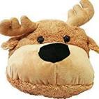 Lilalu 2X-Large Pehmolelu Moose Slipper