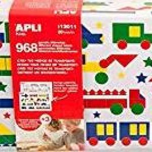 Apli13011 Transport Game with Shaped Label in Tin Box