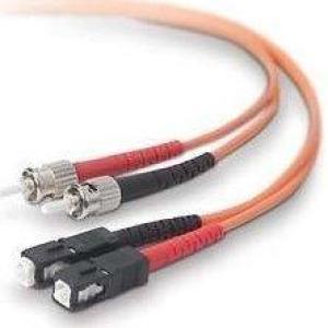 Belkin F2F40200-01M 1M FIBER MMF STST DUPLEX FIBER OPTIC CABLE-ST/ST:50/125:2M (ORANGE)