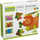 Andreu Toys 16460 Diorama Jungle 4 Puzzles