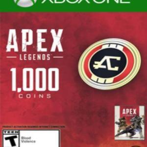 Xbox One: Xbox One: Apex Legends - 1000 Apex Coins (Expiration Date 31/05/2019) (latauskoodi)