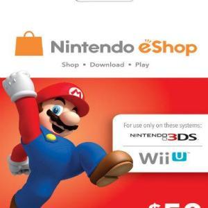 PC: Nintendo eShop $50 (latauskoodi)