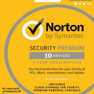 PC: Norton Security Premium Multi Devices 2017 1 Year 10 PC (latauskoodi)