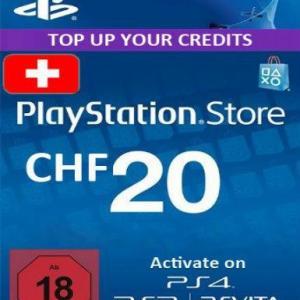 PS4: Playstation Network Card (PSN) 20 CHF (Switzerland) (latauskoodi)