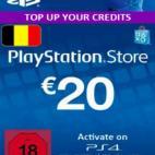 PS4: Playstation Network Card (PSN) 20 EUR (Belgium) (latauskoodi)