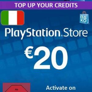 PS4: Playstation Network Card (PSN) 20 EUR (Italia) (latauskoodi)