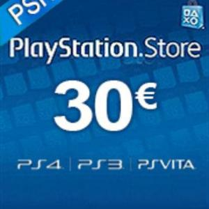 PS4: Playstation Network Card (PSN) 30€ (Austrian) (latauskoodi)