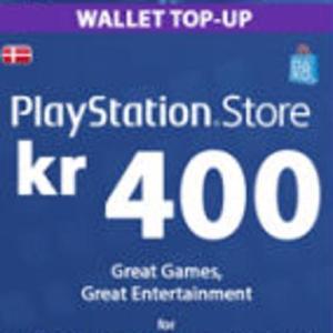 PS4: Playstation Network Card (PSN) 400 DKK (Denmark) (latauskoodi)