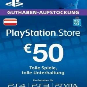 PS4: Playstation Network Card (PSN) 50 EUR (Austria) (latauskoodi)