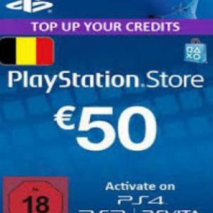 PS4: Playstation Network Card (PSN) 50 EUR (Belgium) (latauskoodi)