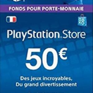 PS4: Playstation Network Card (PSN) 50 EUR (France) (latauskoodi)