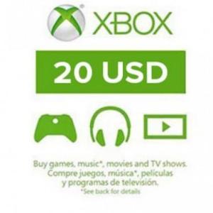 Xbox One: Xbox Live 20 USD (latauskoodi)