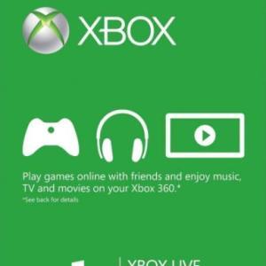 Xbox One: Xbox Live Gold 1 month (latauskoodi)