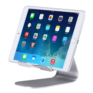 Exquisite Folding Adjustable Pivot Aluminium Alloy Desktop Holder Stand DOCK Cradle, For iPhone, iPad, Samsung, HTC, Sony, iPad and other Tablets(Silver)