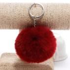 Pörröinen avaimenperä pallo (Punainen)