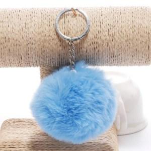 Pörröinen avaimenperä pallo (Sininen)