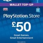 PS4: PlayStation Network Card (PSN) £:50 (UK) (latauskoodi)